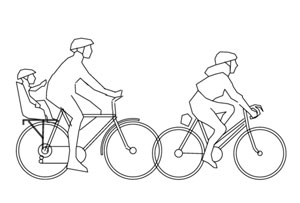 elementos em dwg bicicletas e pessoas soluções para cidades
